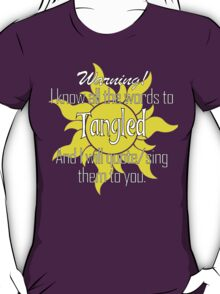 All the Words to Tangled (Dark) T-Shirt