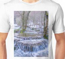Calc-sinter or Travertine terraces, Gutenberg, South Germany Unisex T-Shirt