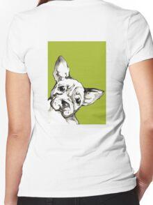 Dog 2 Women's Fitted V-Neck T-Shirt