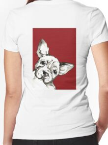 Dog 1 Women's Fitted V-Neck T-Shirt