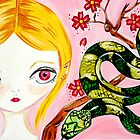 Cherry Blossom Snake Lovin Pixie by Jaz Higgins