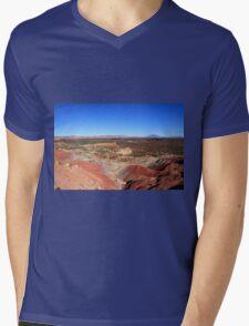 Painted Desert Landscape Mens V-Neck T-Shirt