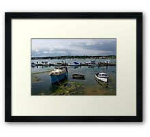 Bembridge Harbour Scene Framed Print