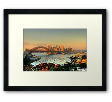 Magical Morn -Moods Of A City # 26 - The HDR Series , Sydney Australia Framed Print