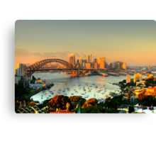 Magical Morn -Moods Of A City # 26 - The HDR Series , Sydney Australia Canvas Print