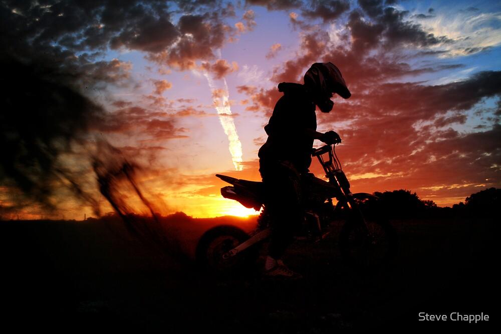 Sunset ride by Steve Chapple