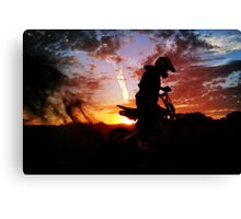 Sunset ride Canvas Print