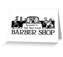 Old Fashioned Gents Barber Shop Sign Greeting Card