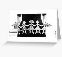 Paper Dolls Greeting Card
