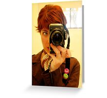 Self portrait - Photographer Greeting Card