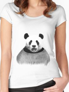 F*ck the world, I'm a Panda. Women's Fitted Scoop T-Shirt