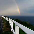 Rainbow over Sea by Lunchbox