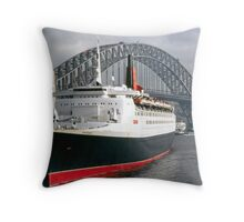 QE2 Luxury Liner Throw Pillow