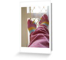 Toe Socks Greeting Card