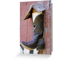 Cowboy Boot Birdhouse Greeting Card