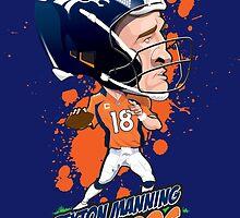 Peyton Manning Broncos by BaseballBacks