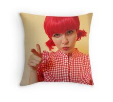 Pigtail Posse Throw Pillow