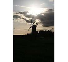 Windmill Silhouette Photographic Print