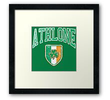 Athlone, Ireland with Shamrock Framed Print