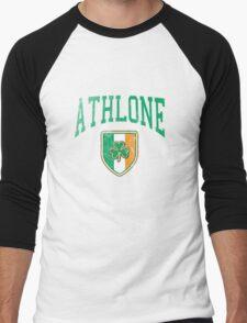 Athlone, Ireland with Shamrock Men's Baseball ¾ T-Shirt