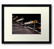 Street Works Framed Print