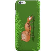 Ant smiling in tall green grass iPhone Case/Skin