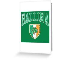 Ballina, Ireland with Shamrock Greeting Card