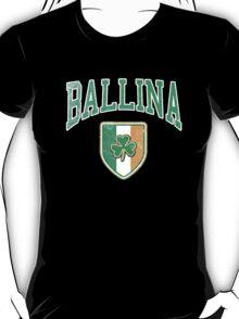 Ballina, Ireland with Shamrock T-Shirt