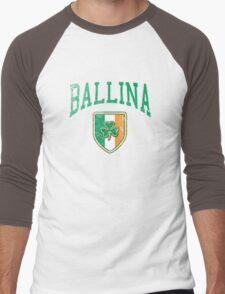 Ballina, Ireland with Shamrock Men's Baseball ¾ T-Shirt