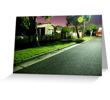 Night Scene 2 Greeting Card