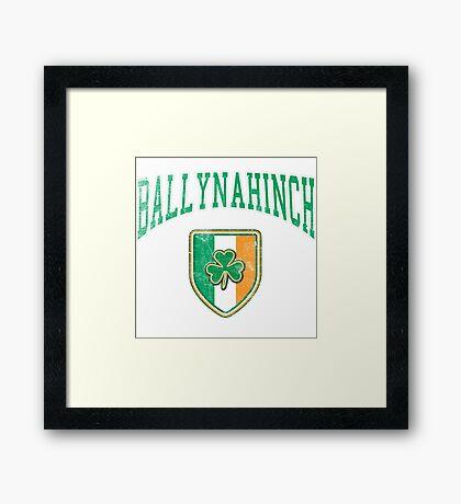 Ballynahinch, Ireland with Shamrock Framed Print