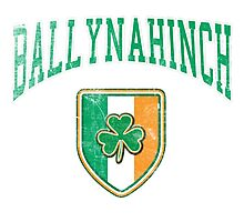 Ballynahinch, Ireland with Shamrock Photographic Print