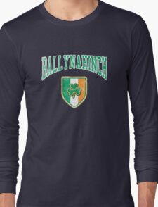 Ballynahinch, Ireland with Shamrock Long Sleeve T-Shirt