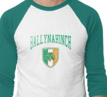 Ballynahinch, Ireland with Shamrock Men's Baseball ¾ T-Shirt