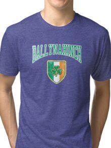 Ballynahinch, Ireland with Shamrock Tri-blend T-Shirt
