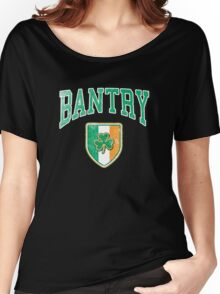 Bantry, Ireland with Shamrock Women's Relaxed Fit T-Shirt