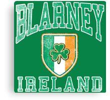 Blarney, Ireland with Shamrock Canvas Print