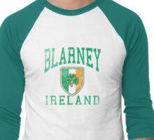 Blarney, Ireland with Shamrock Men's Baseball ¾ T-Shirt