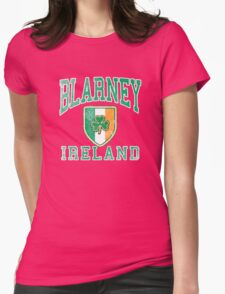Blarney, Ireland with Shamrock Womens Fitted T-Shirt