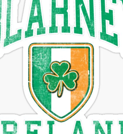 Blarney, Ireland with Shamrock Sticker