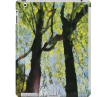 Springtime Morning With Twin Forest Trees  iPad Case/Skin