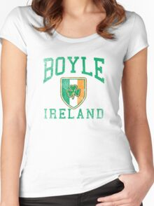 Boyle, Ireland with Shamrock Women's Fitted Scoop T-Shirt