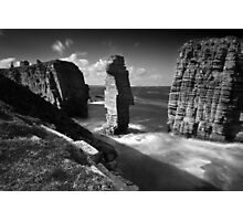 Sea Stacks at Castle Sinclair Girnigoe Photographic Print