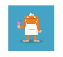 Ice Cream Vendor - Everyday Monsters Art Print