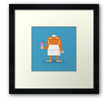 Ice Cream Vendor - Everyday Monsters Framed Print