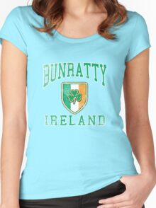 Bunratty, Ireland with Shamrock Women's Fitted Scoop T-Shirt