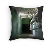 asylum tunnel Throw Pillow
