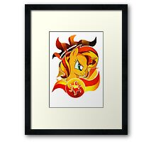 Sunset Shimmer Framed Print