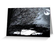 Blue Moon Scene Greeting Card