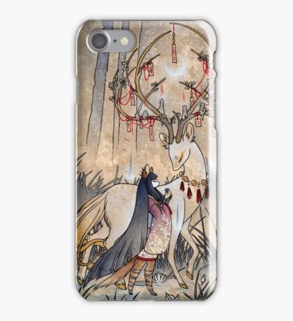 The Wish - Kitsune Fox Deer Yokai iPhone Case/Skin